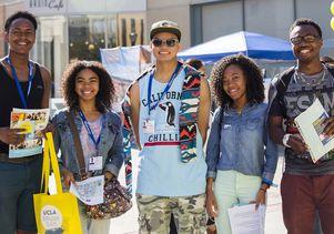Prospective freshmen on Bruin Day