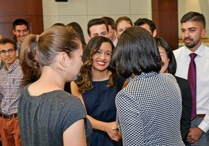 UCLA students and National Security Advisor Susan Rice