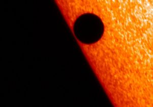 Mercury in transit across the sun