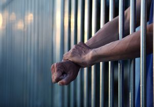 Stock image of a jail inmate