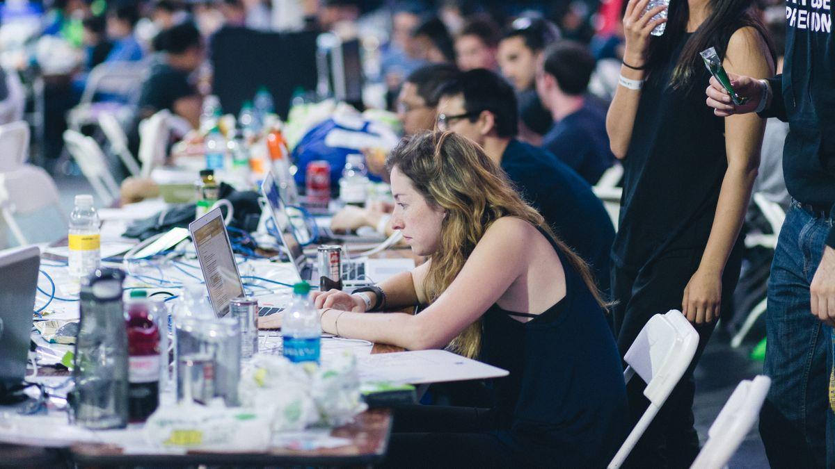 Participants at LA Hacks