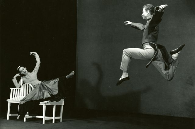 "Martha Graham and Merce Cunningham in ""Letter to the World"""