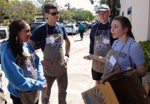 Tyler Watson, Savannah Gardner and other UCLA students