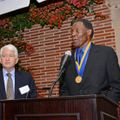 Rafer Johnson accepts UCLA Medal
