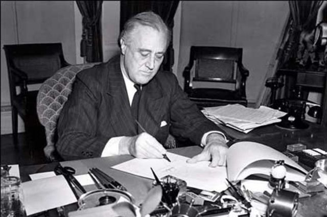 President Franklin D. Roosevelt in 1941