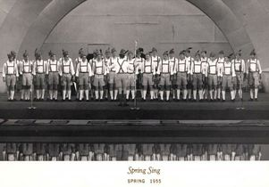 1955 Spring Sing Theta Xi at Hollywood Bowl