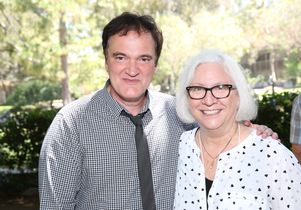 Quentin Tarantino and Teri Schwartz