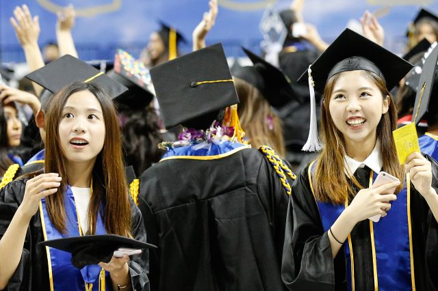 ucla graduation asian students