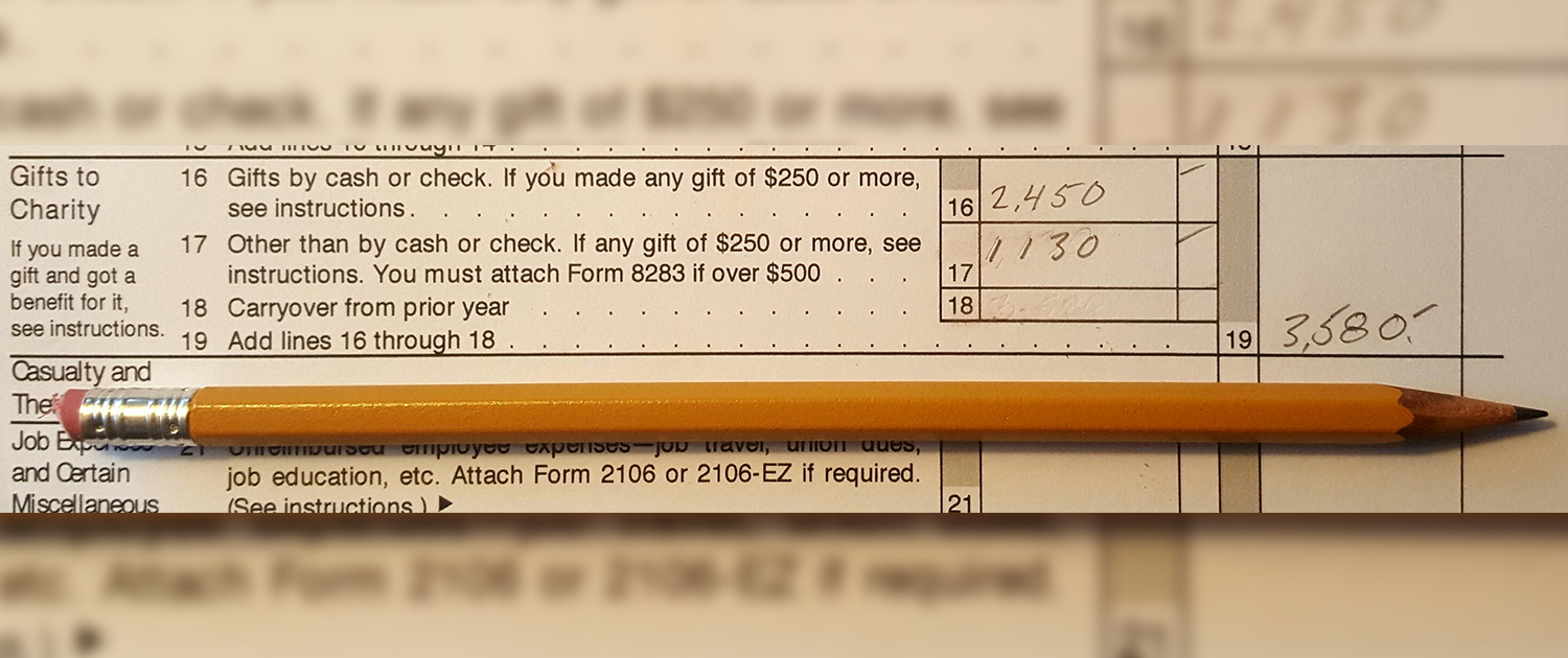 tax return charitable giving