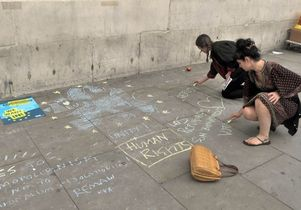 Remain rally chalkers
