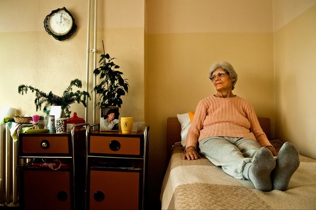 Woman in nursing home