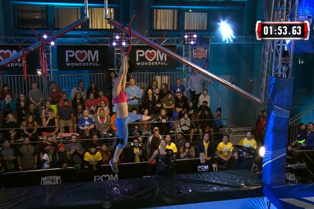 Natalie Duran competing on American Ninja Warrior.