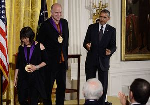 Billie Tsien, Tod Williams and President Obama