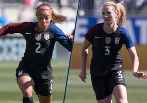 Mallory Pugh and Samantha Mewis