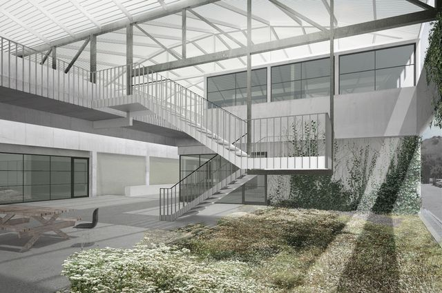 UCLA Graduate Art Studios Covered Garden