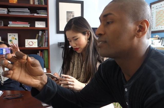 Metta World Peace and UCLA student
