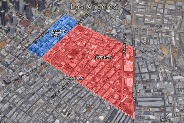 Map of downtown Los Angeles