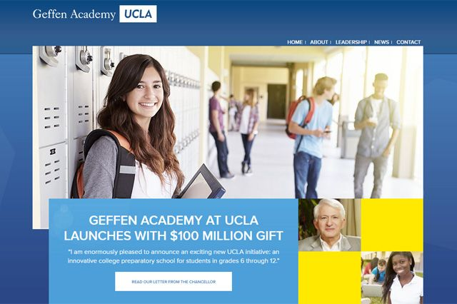 Geffen Academy website screen grab