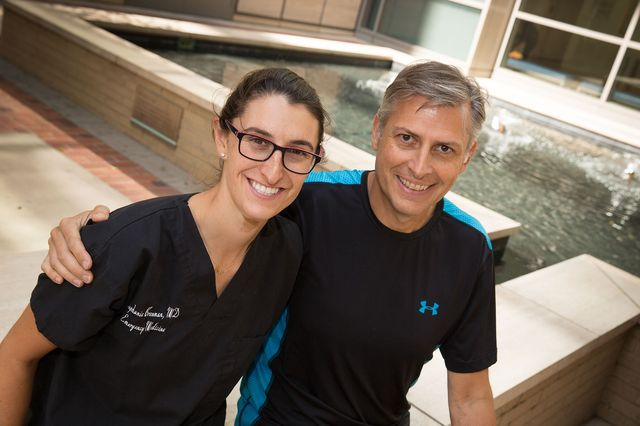 Dr. Stephanie Brenman and Giovanni Valente