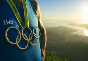 Graphic for story on UCLA in the Olympics
