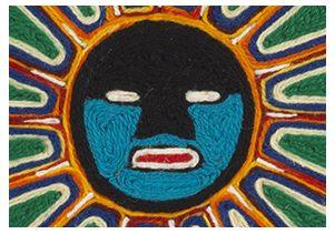 Huichol Spun Universe closeup