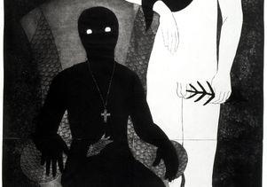 """Belkis Ayón, """"La familia"""" (The Family), 1991"""