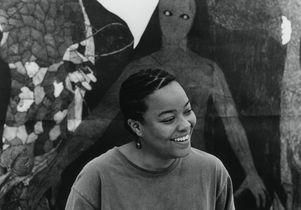 Belkis Ayón at the Havana Galerie, Zúrich, Aug. 23, 1999.