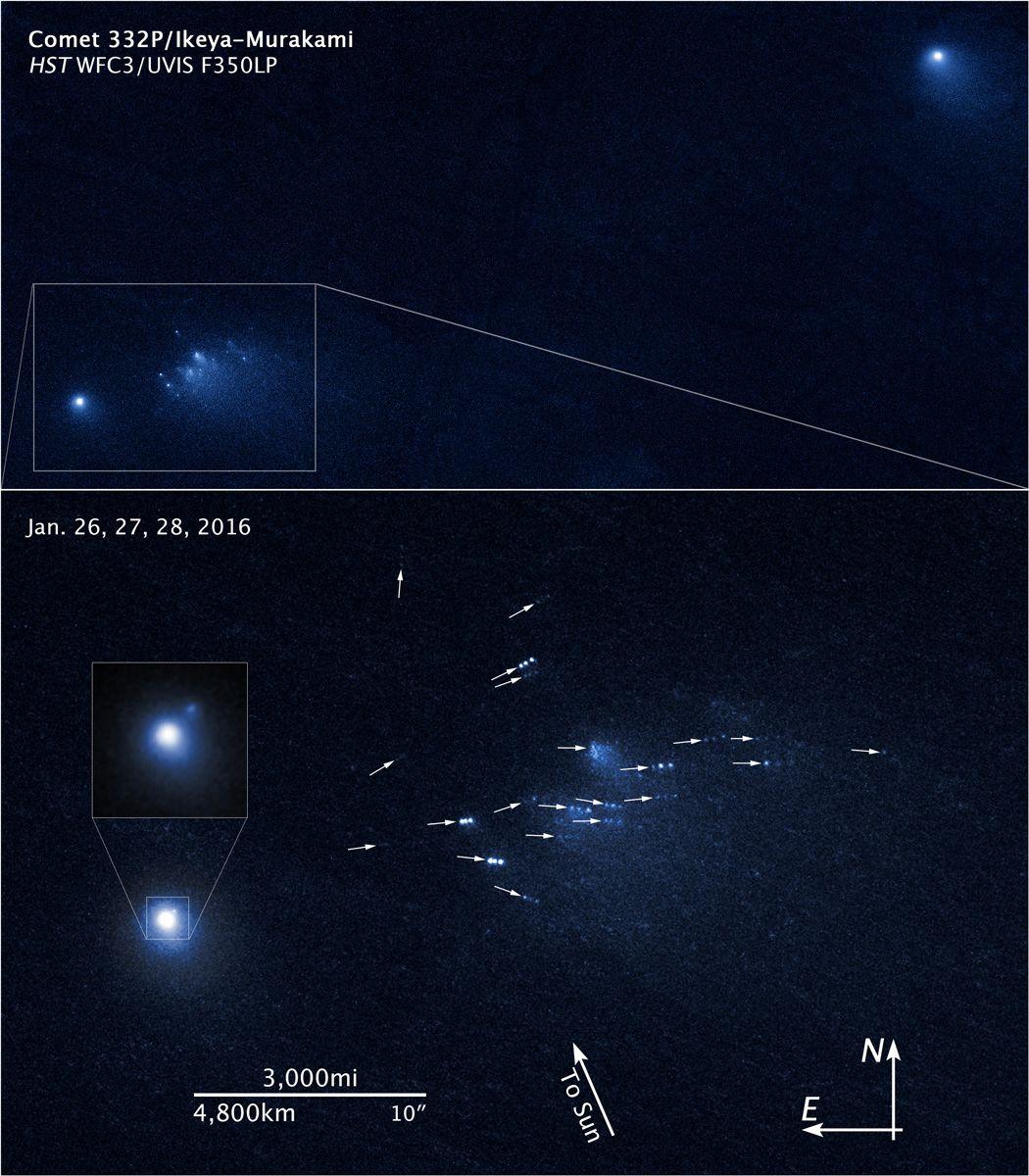 A disintegrating comet