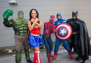 Super heros at Mattel Children's Hospital UCLA