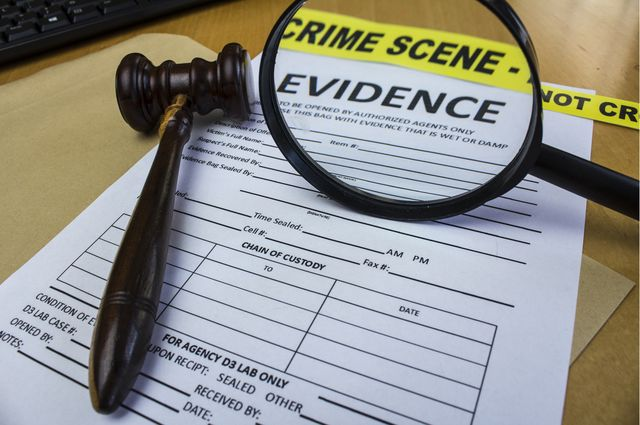 Stock art for forensic science evidence