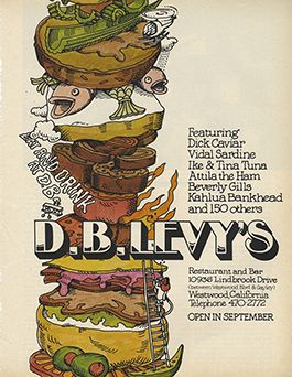 Menu from D.B. Levy's