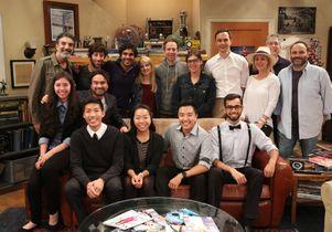 """Big Bang scholarship recipients and cast, producers of """"The Big Bang Theory"""""""