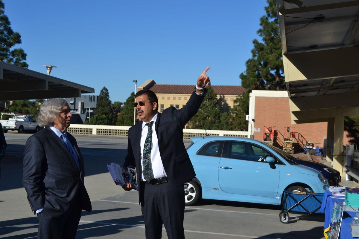 U.S. Secretary of Energy Ernest Moniz and UCLA professor Rajit Gadh