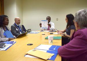 Marqeece Harris-Dawson with UCLA advocates