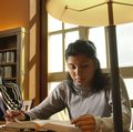 UCLA Law students in library