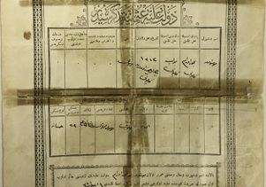 19th-century Ottoman birth certificate