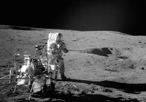Apollo 14 astronaut on the moon
