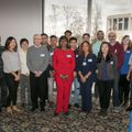 Shirley Polk and 15 donors of blood for her surgery