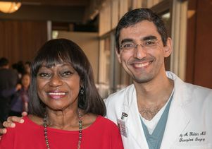 Shirley Polk and Dr. Fady Kaldas