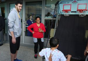 Larry Nance Jr. and a patient