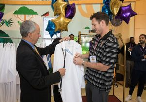 Dr. John Mazziotta and Luke Walton