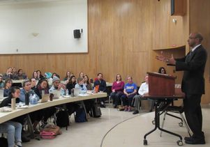 Ahilan Arulanantham lectures at UCLA School of Law