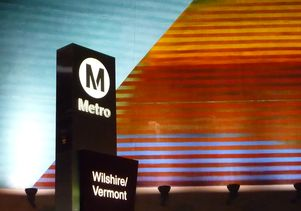 Metro line station at Wilshire/Vermont