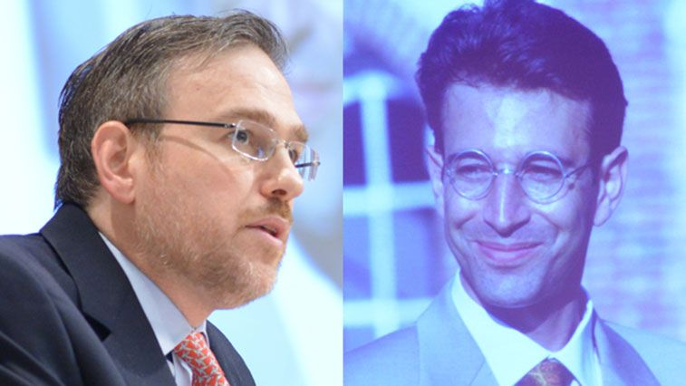 Bret Stephens and photo of Daniel Pearl