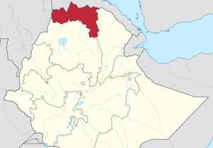 Map of Tigray region in Northern Ethiopia