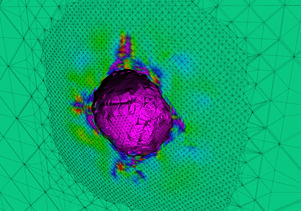 A model of the formation of bubbles in metals under extreme pressure