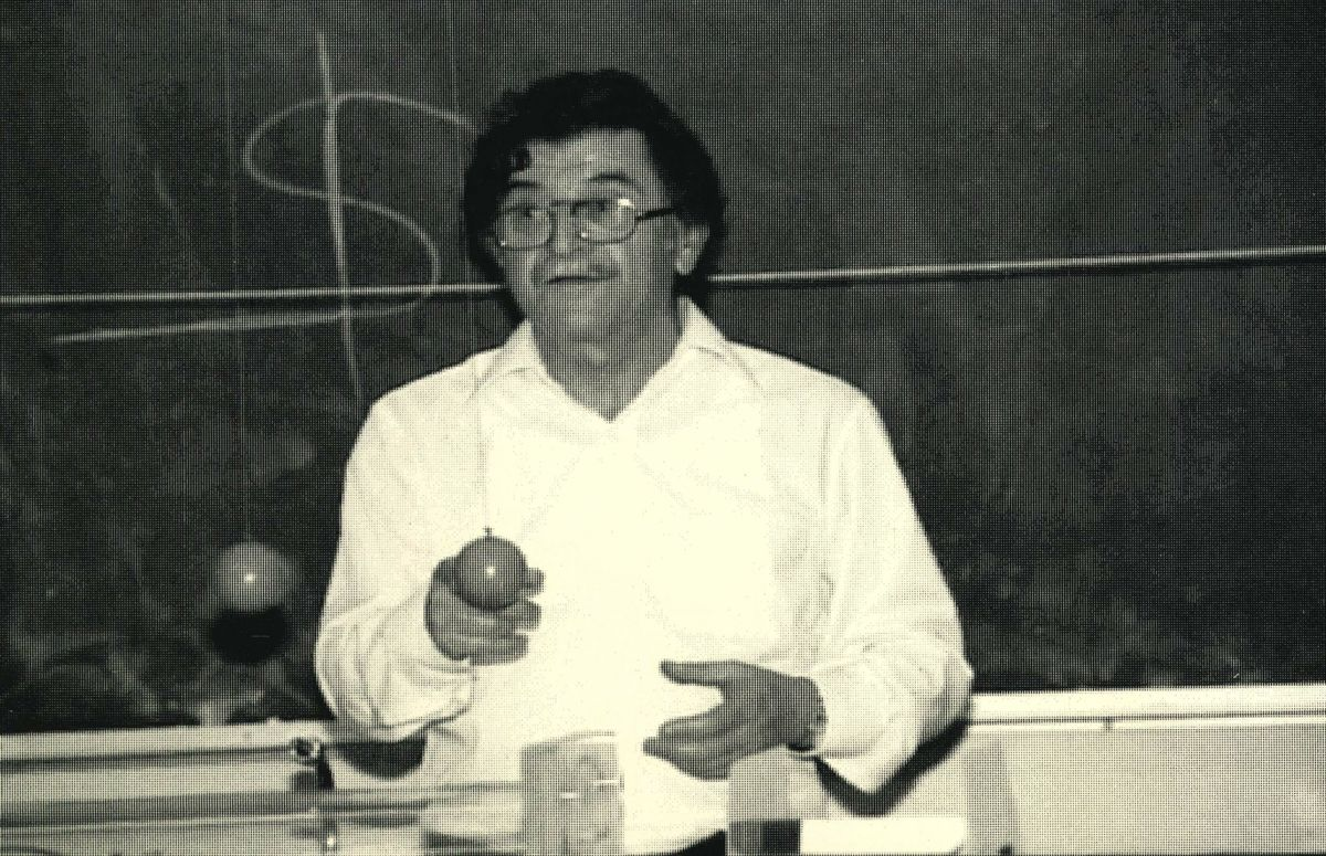 Isadore Rudnick teaching
