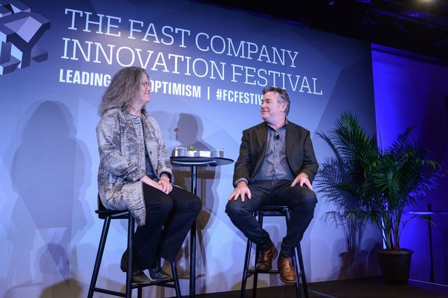 Andrea Ghez interviewed by Jason Kersten at the 2017 Fast Company Innovation Festival