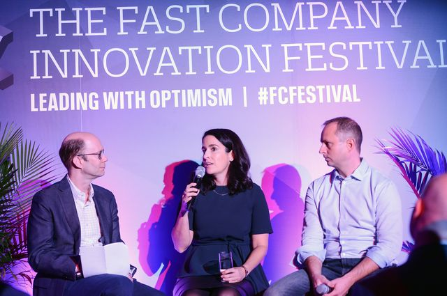 Jaime Nack and Jeff Burke at the 2017 Fast Company Innovation Festival