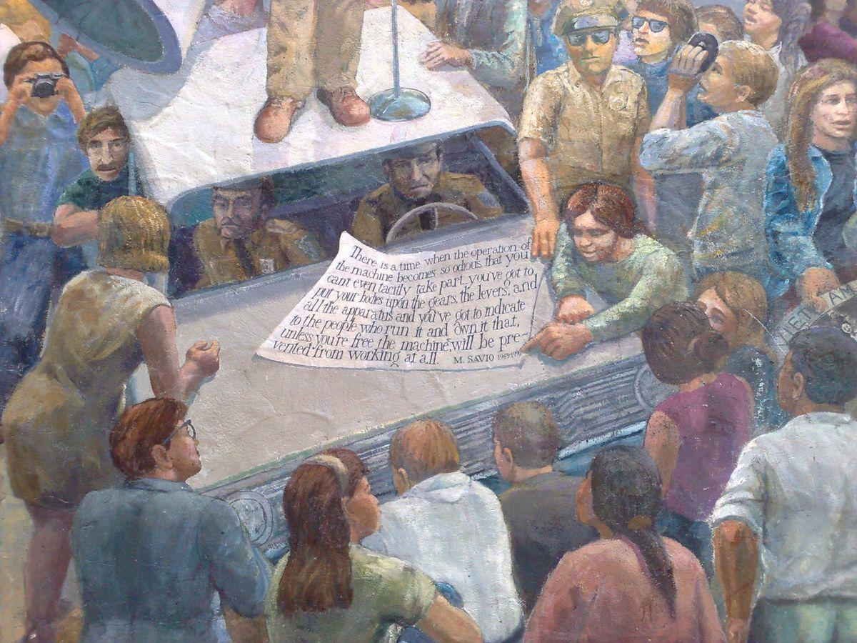Free speech mural in Berkeley